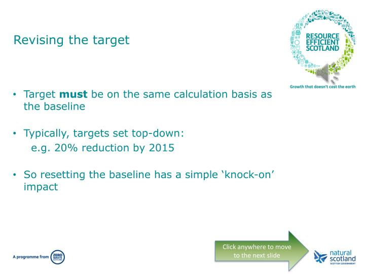 Revising the target
