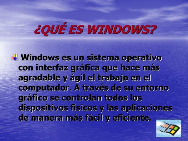 Qu es windows