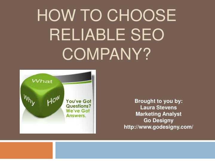 how to choose reliable seo company n.
