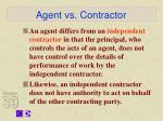 agent vs contractor