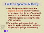 limits on apparent authority