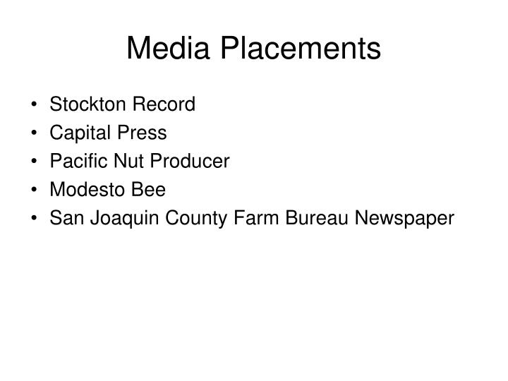 Media placements