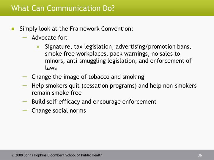 What Can Communication Do?