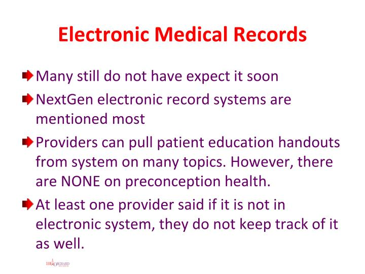 Electronic Medical Records