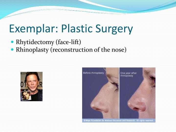 Exemplar: Plastic Surgery