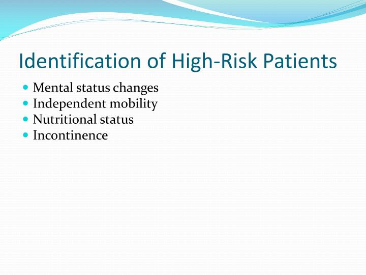 Identification of High-Risk Patients