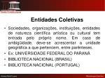 entidades coletivas1