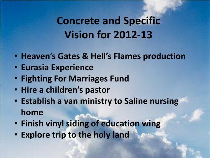 Concrete and Specific