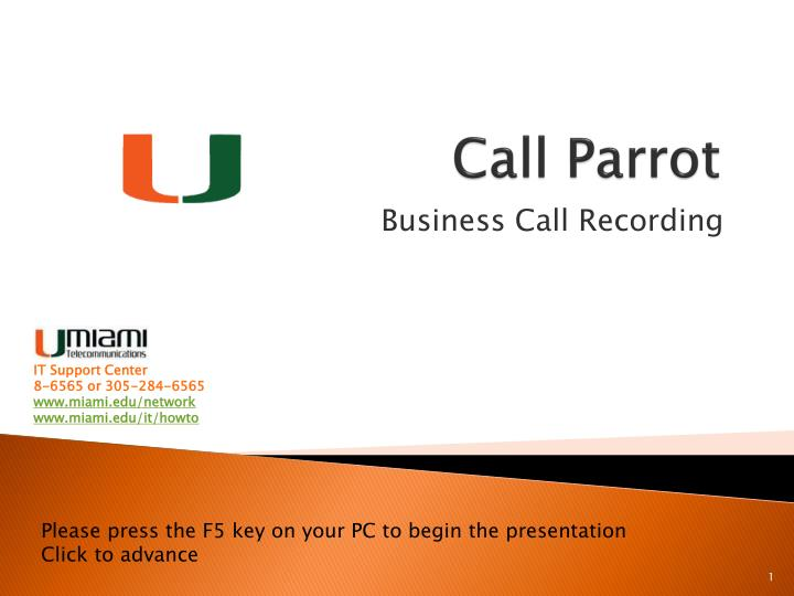 call parrot n.