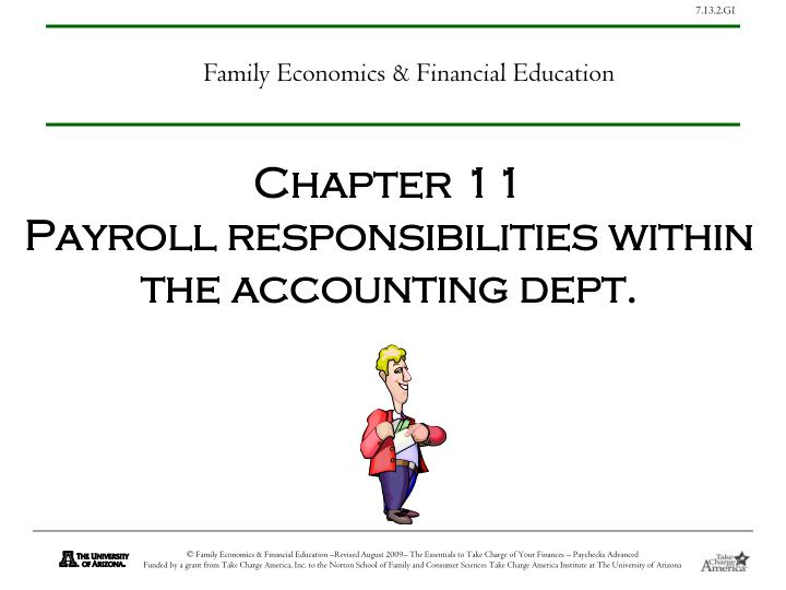 chapter 11 payroll responsibilities within the accounting dept