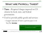 what are payroll taxes