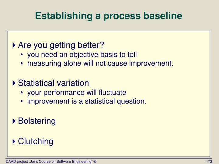 Establishing a process baseline