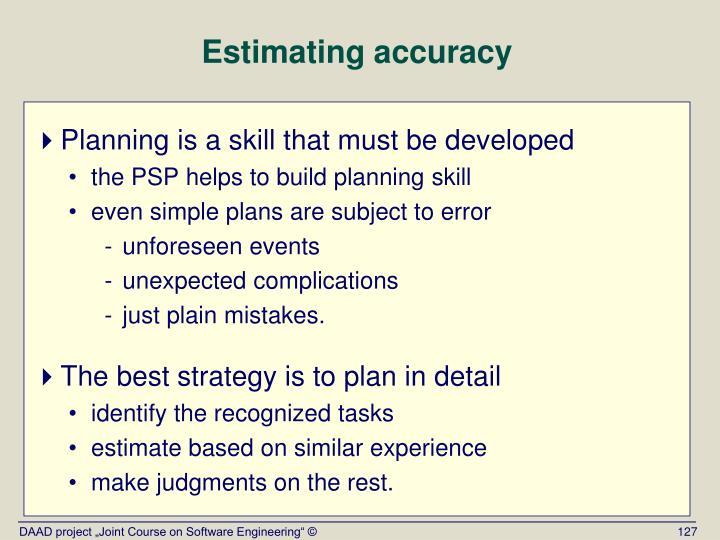 Estimating accuracy