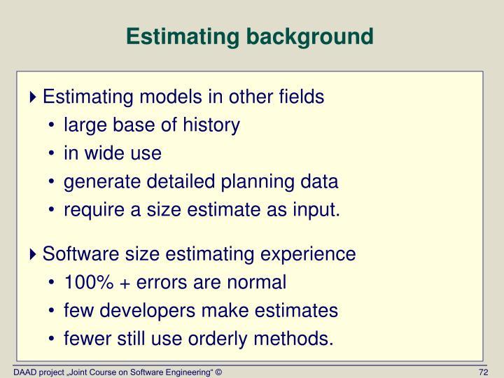 Estimating background
