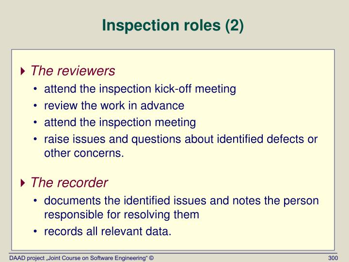 Inspection roles (2)
