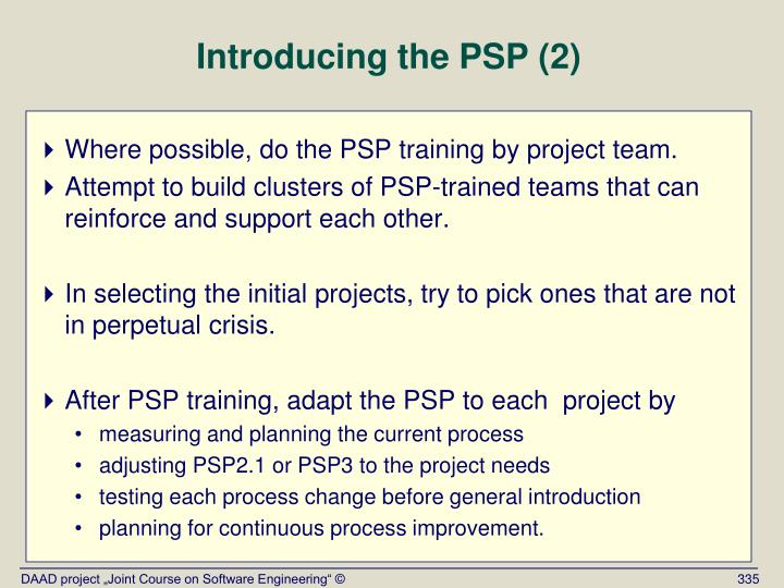 Introducing the PSP (2)