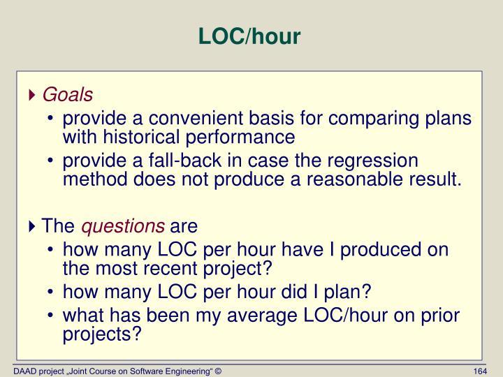 LOC/hour