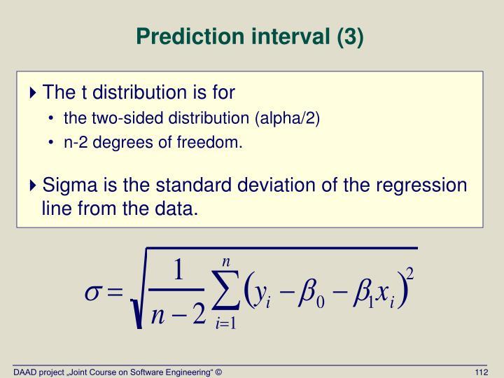 Prediction interval (3)