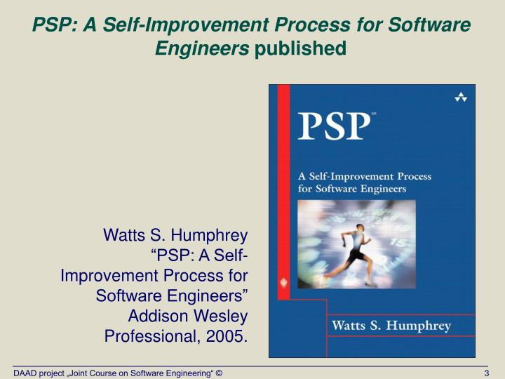 Psp a self improvement process for software engineers published