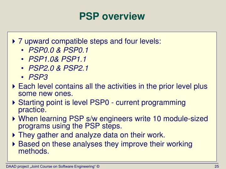 PSP overview