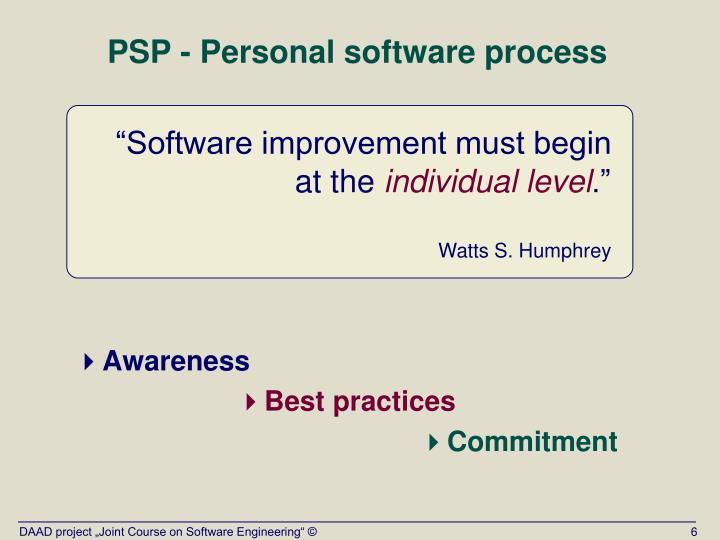"""""""Software improvement must begin"""