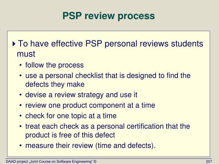 PSP review process
