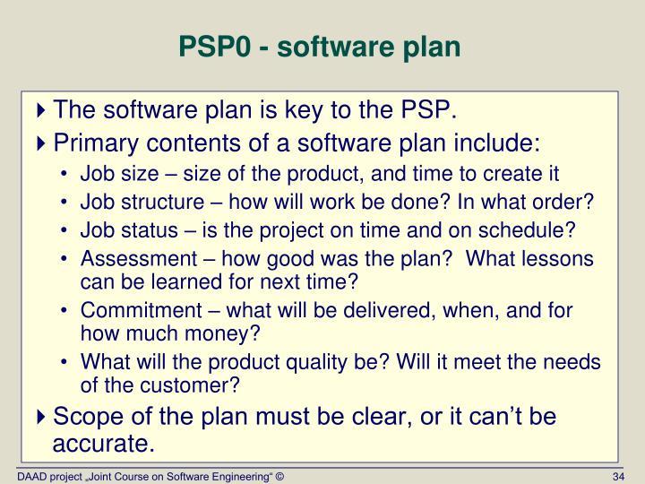 PSP0 - software plan