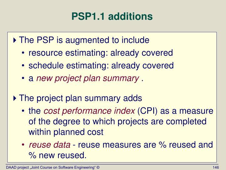 PSP1.1 additions