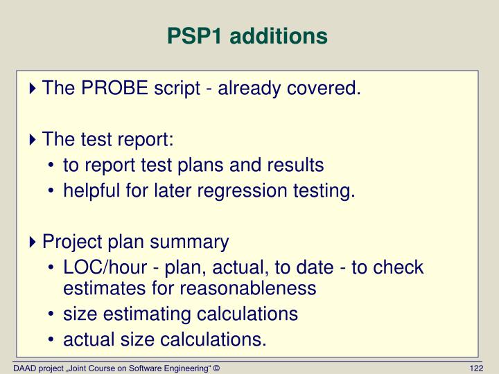 PSP1 additions