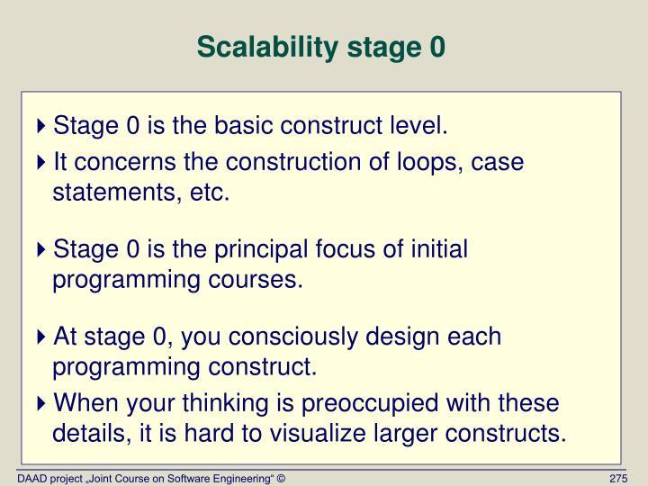 Scalability stage 0