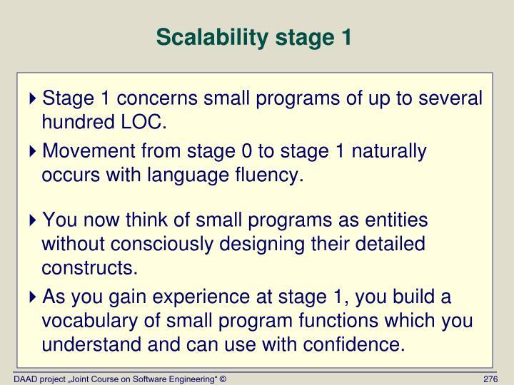 Scalability stage 1