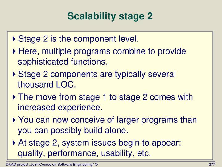 Scalability stage 2