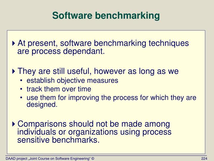 Software benchmarking