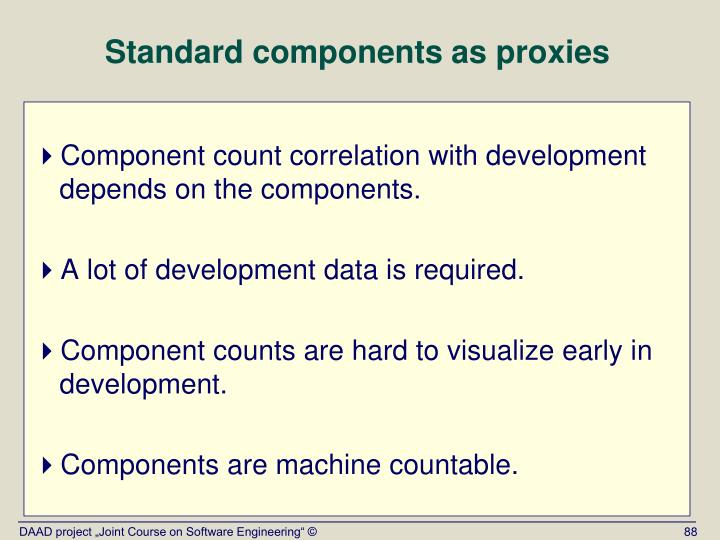 Standard components as proxies