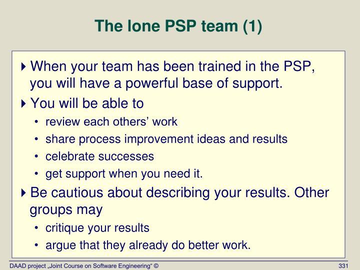 The lone PSP team (1)