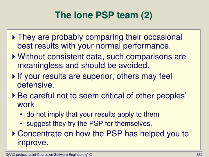 The lone PSP team (2)