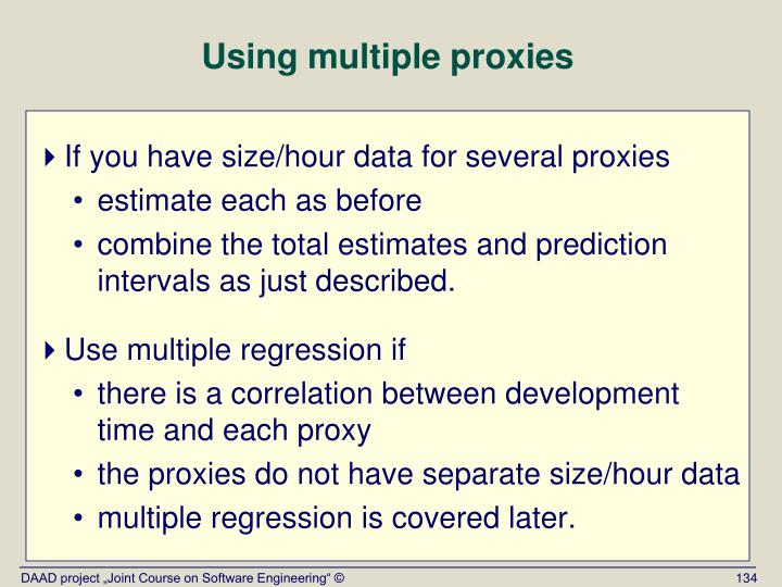 Using multiple proxies