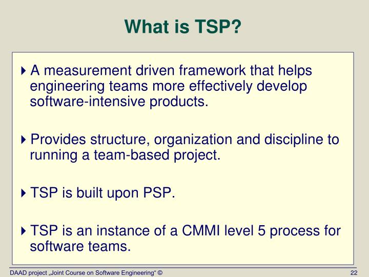 What is TSP?
