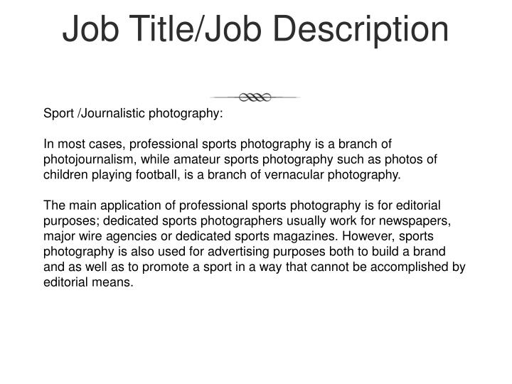 Job title job description