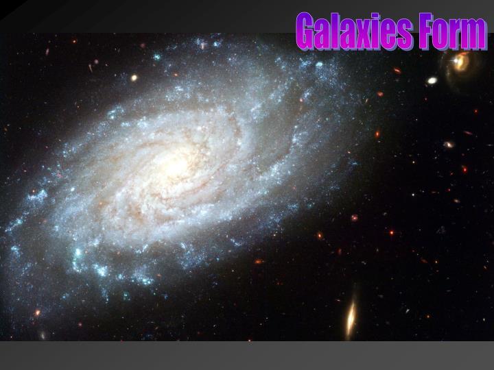 Galaxies Form