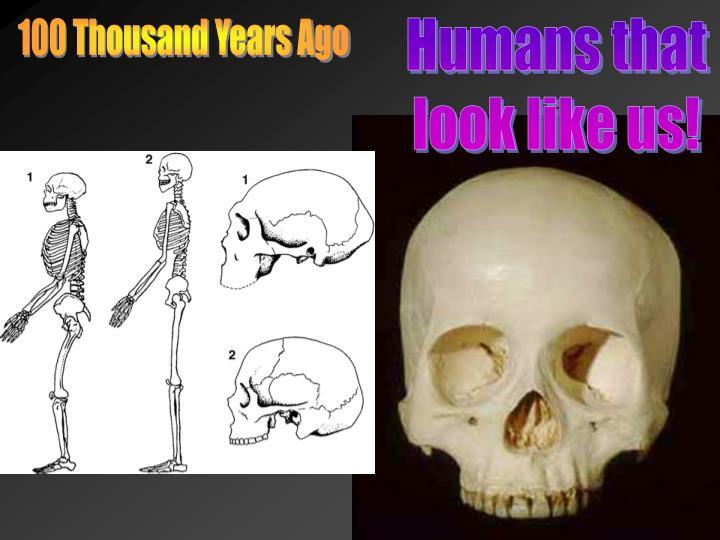 100 Thousand Years Ago
