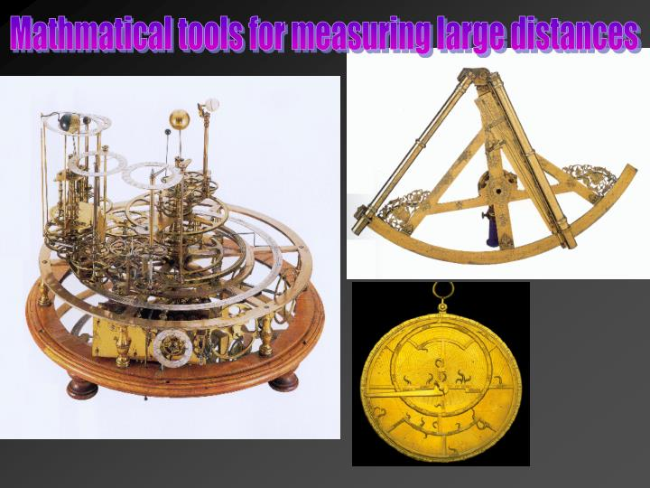 Mathmatical tools for measuring large distances