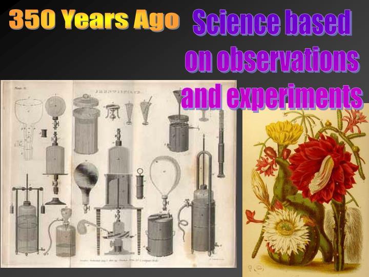 350 Years Ago