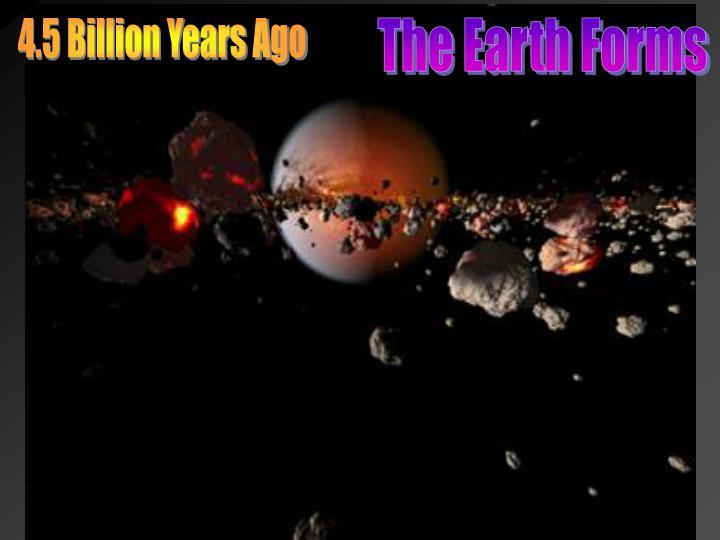 4.5 Billion Years Ago