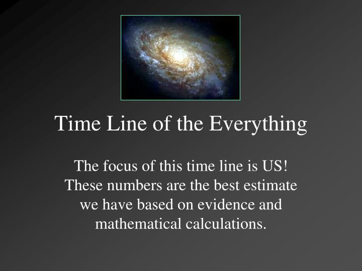 time line of the everything n.