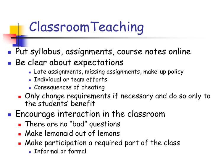 ClassroomTeaching