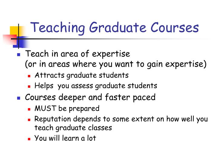 Teaching Graduate Courses
