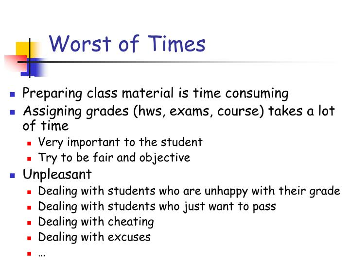 Worst of Times