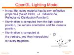 opengl lighting model