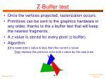 z buffer test1